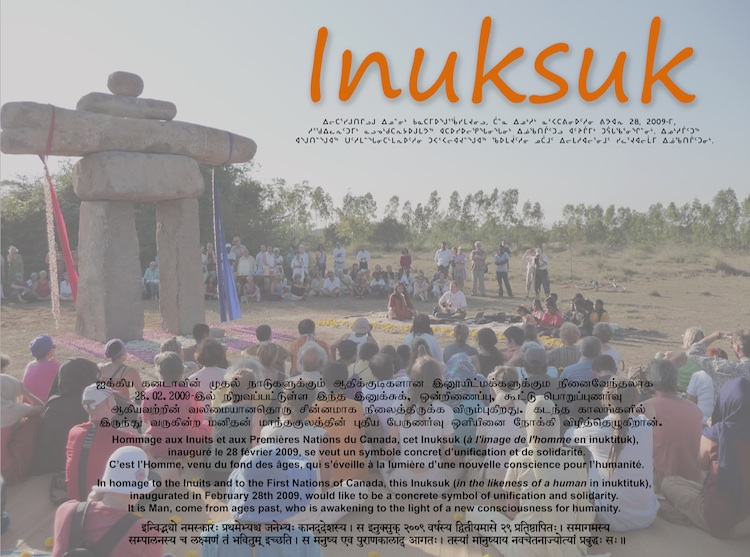 plaque de l'Inuksuk