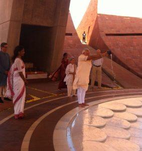 visite du Premier Ministre à Auroville